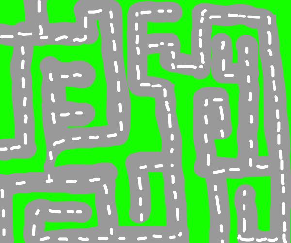 Road maze