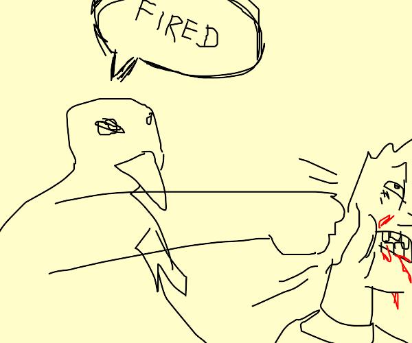 Owl firing Bart