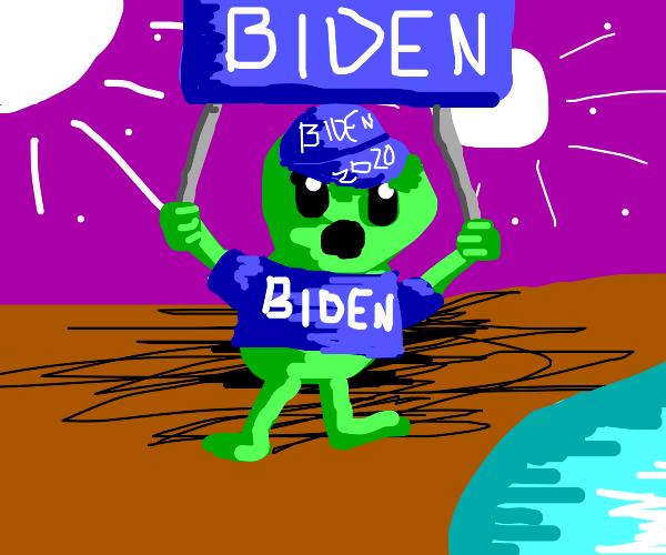 Space alien is pro Biden