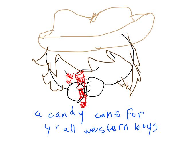 Cowboy candy cane