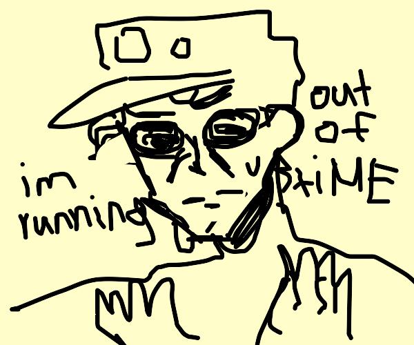 Jotaro and starplatinum are runing out of tim
