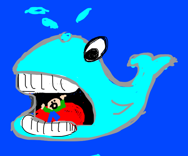 man gets eaten by whale