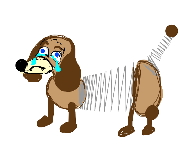 Slinky from Toy Story is sad ;-;