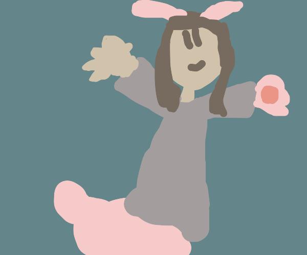 Rabbit person hybrid