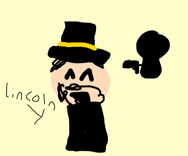 abe lincoln laughs at a play