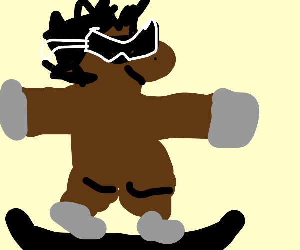 Donkey does sick skateboard trick