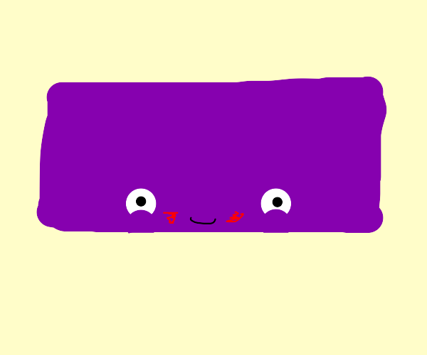 happy purple brick