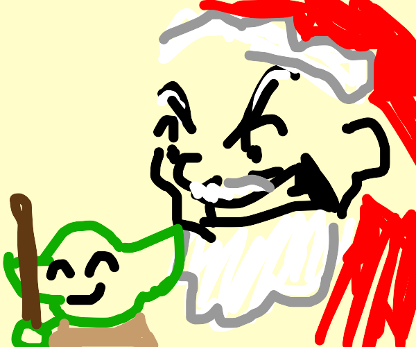 santa is pissed at yoda