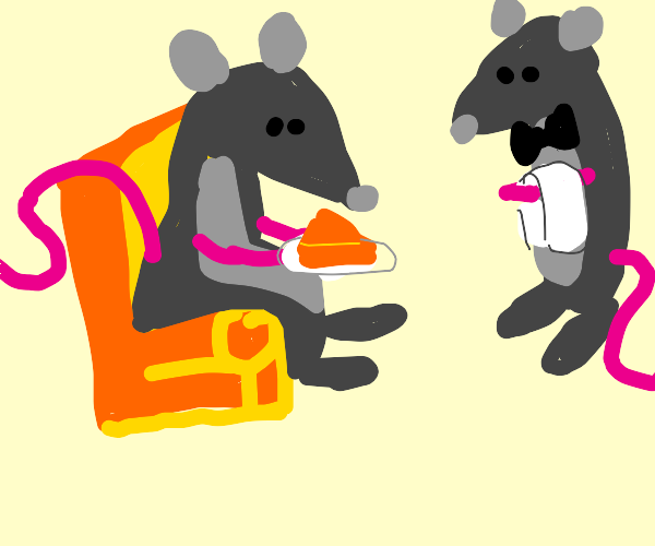 Rat with a butler