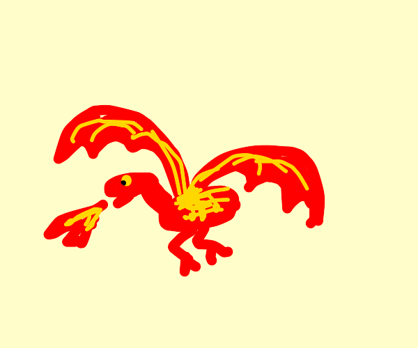 small red and yellow dragon