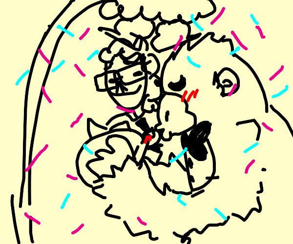 Ape kissing Turtle