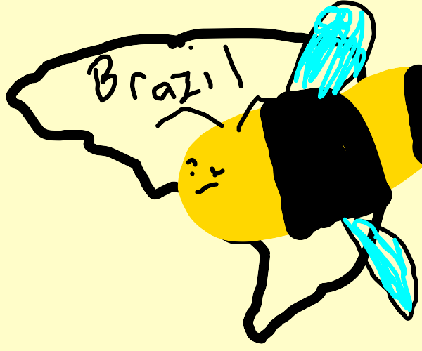 Brazil get's destroyed by a giant bee