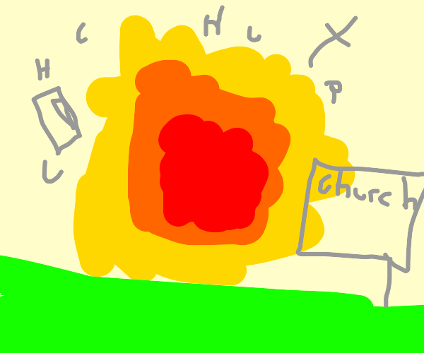 exploding church