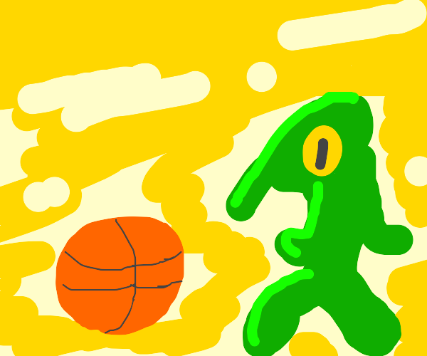 bold and brash playing basket ball
