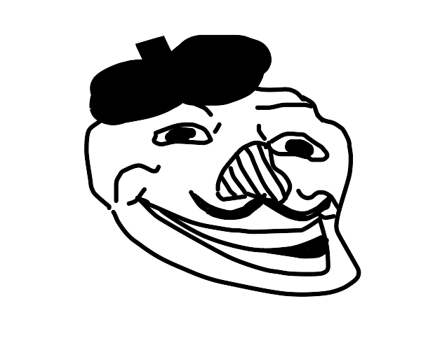 French trollface