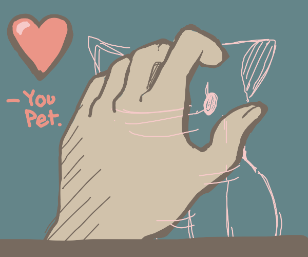 a video game about petting an invisible cat