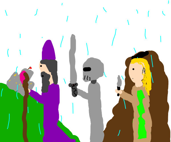 The DnD Party goes adventuring