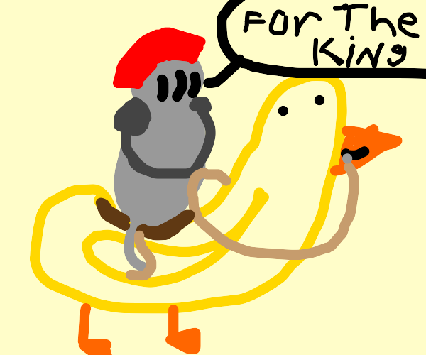 Knight Riding Duck to Victory