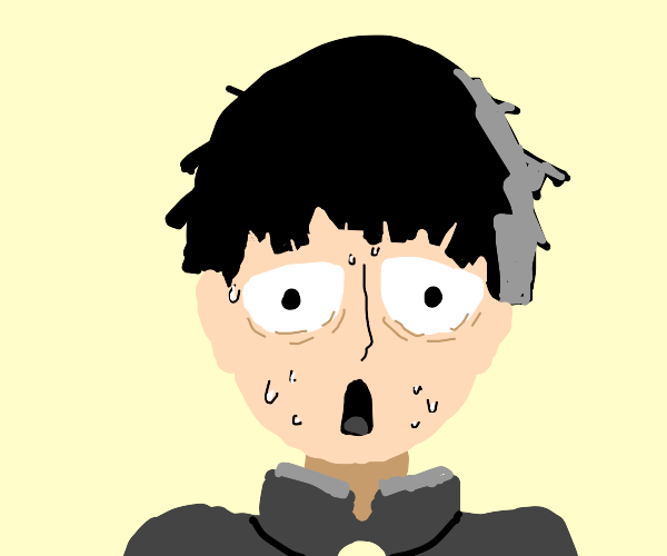 Mob (From Mob Psycho) is traumatized