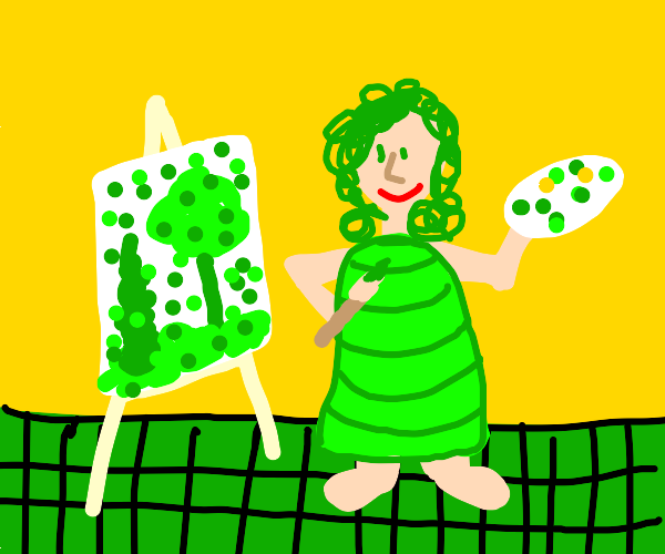 artist in there green period