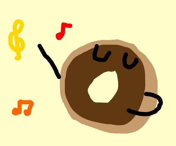 Singing donut