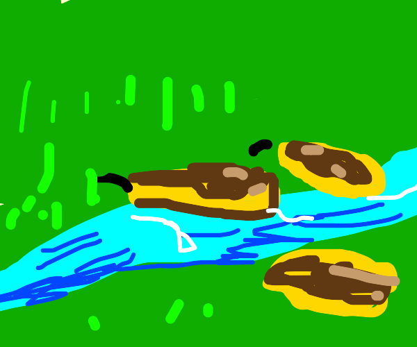 Pancakes jumping over a River