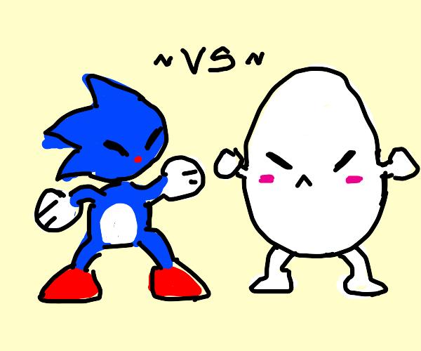sanic vs egg man