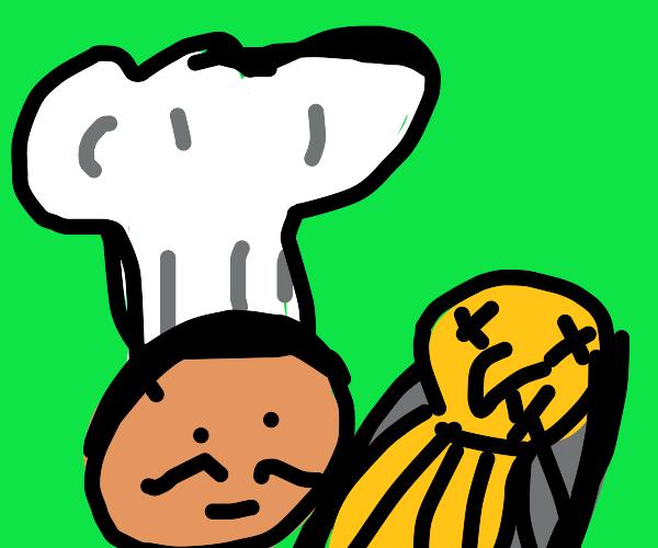 chef wants to eat big bird