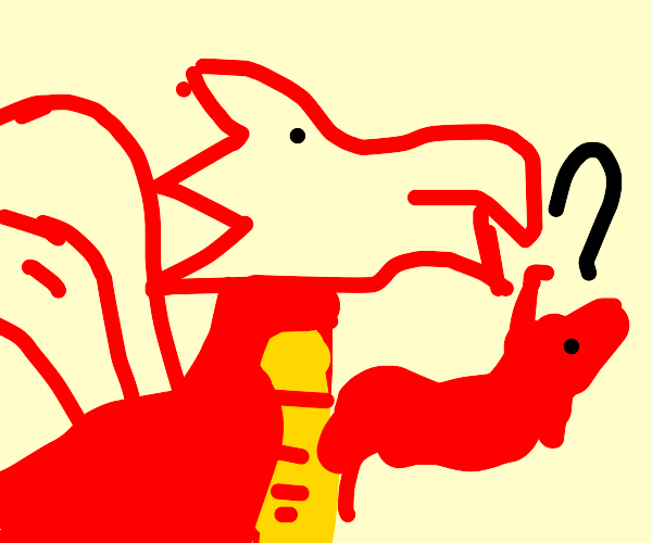 Dragon holding unidentified object