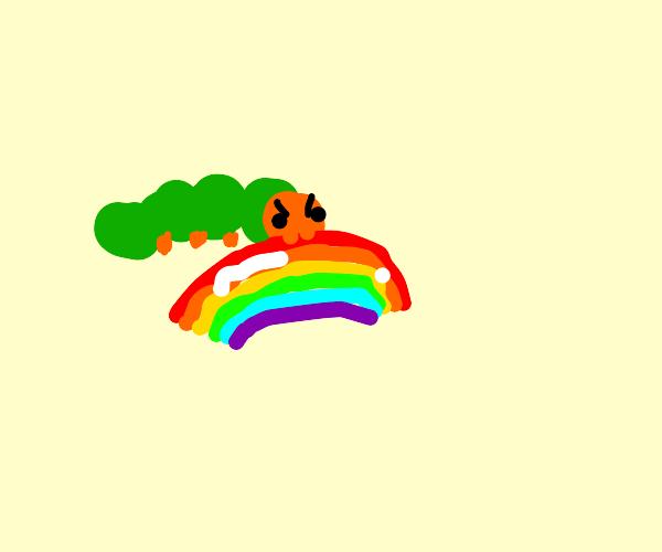 The hungry caterpillar, rainbow style