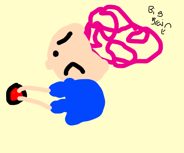 brainy angry button pusher