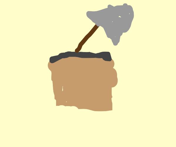 shovel in box