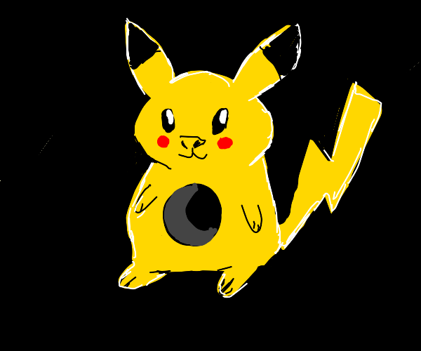pikachu's chest is a void