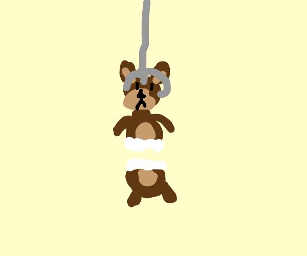 Claw machine rips sentient teddy bear
