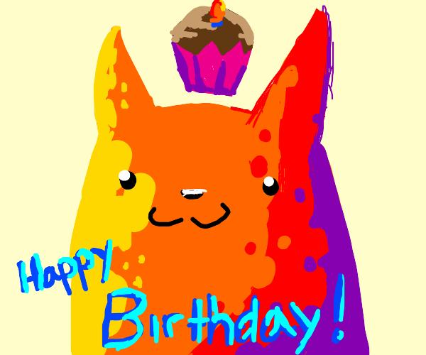 Happy birthday, tabby cat