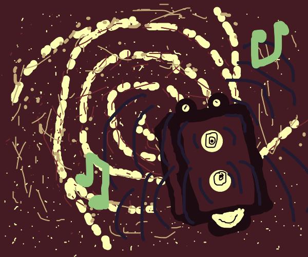 speaker enjoys galaxy floating