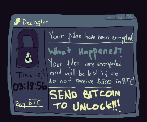 hacker wants your bitcoin