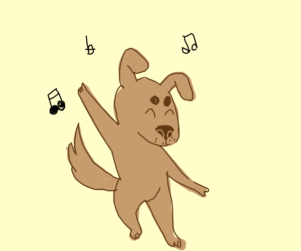 dancing doggo