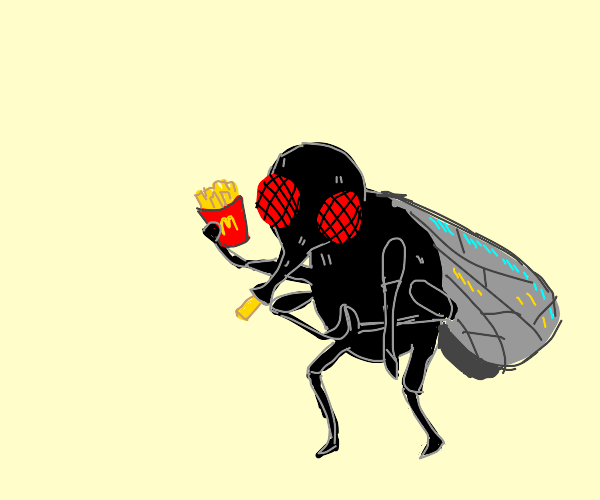 insect with mcdonalds fries