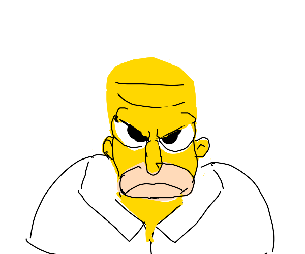 HOMER SIMPSON IS ANGRY