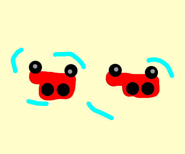 Upside Down Red Vans Vibrating