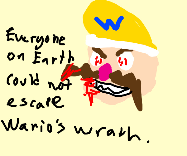 Wario creates mass murder extinction