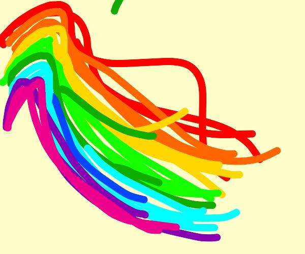 Rainbow mane!