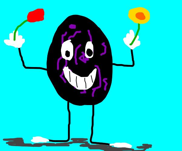 planters mascot as a raisin