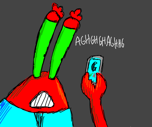 mr crabs answers phone
