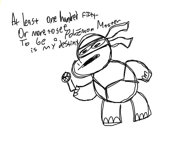 Ninja Turtle rapping