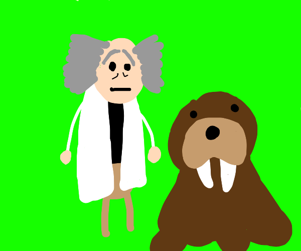 Time traveller and pet walrus