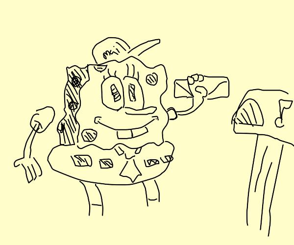 SpongeBob CirclePants is the new mailman