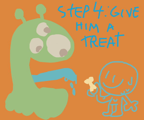 Step 3: The friendly monster licks you