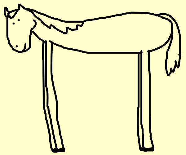 long legs horse